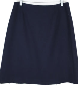 Prada Navy Wool Wrap Skirt 2