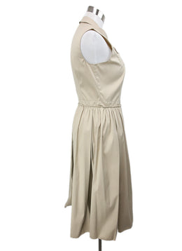 Prada Neutral Khaki Sleeveless Dress 2