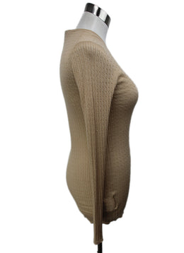 Prada Beige Knit Cashmere Silk Sweater 2