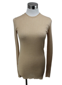 Prada Beige Knit Cashmere Silk Sweater 1