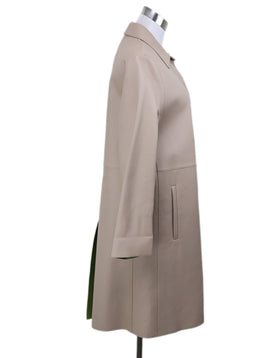 Prada Tan Leather Trenchcoat Sz 4