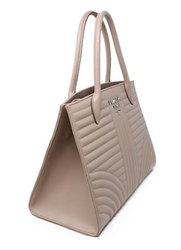 Prada Neutral Tan Quilted Leather Handbag 2