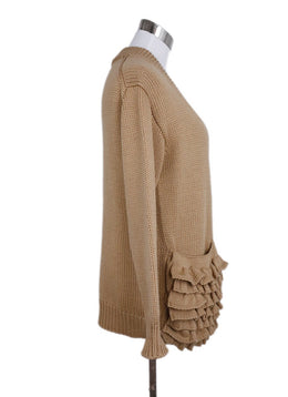 Prada Neutral Tan Wool Cardigan Sweater 2