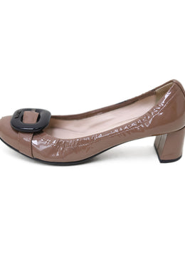 Prada Neutral Taupe Patent Leather Shoes 1