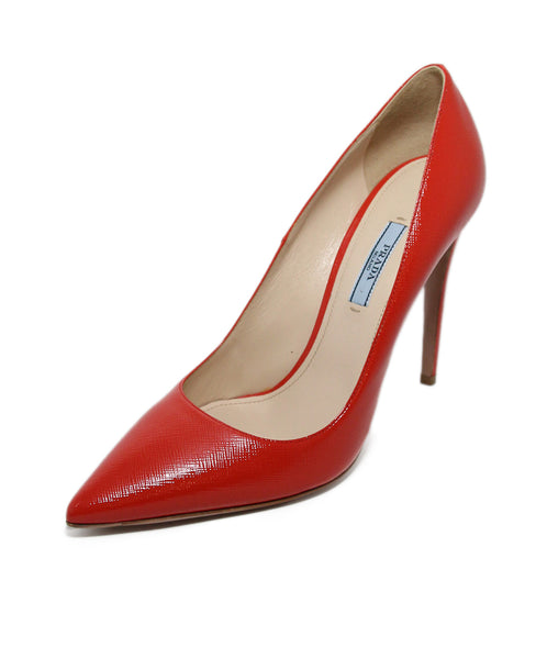 Prada Orange patent leather Heels 1