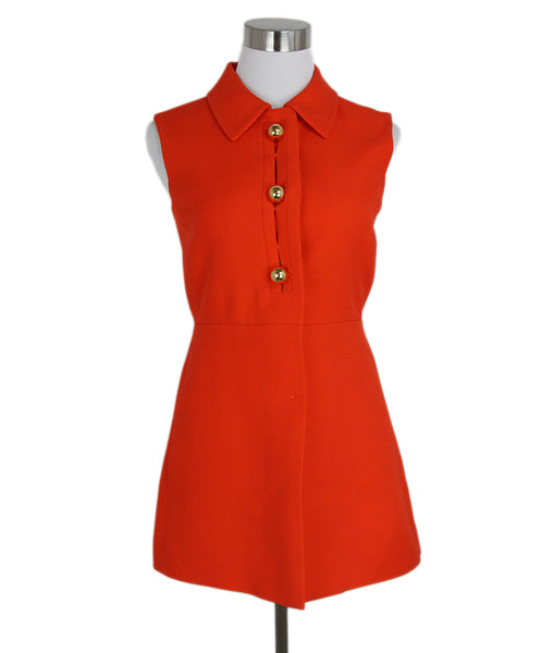 Prada Orange wool button up tunic vest 1