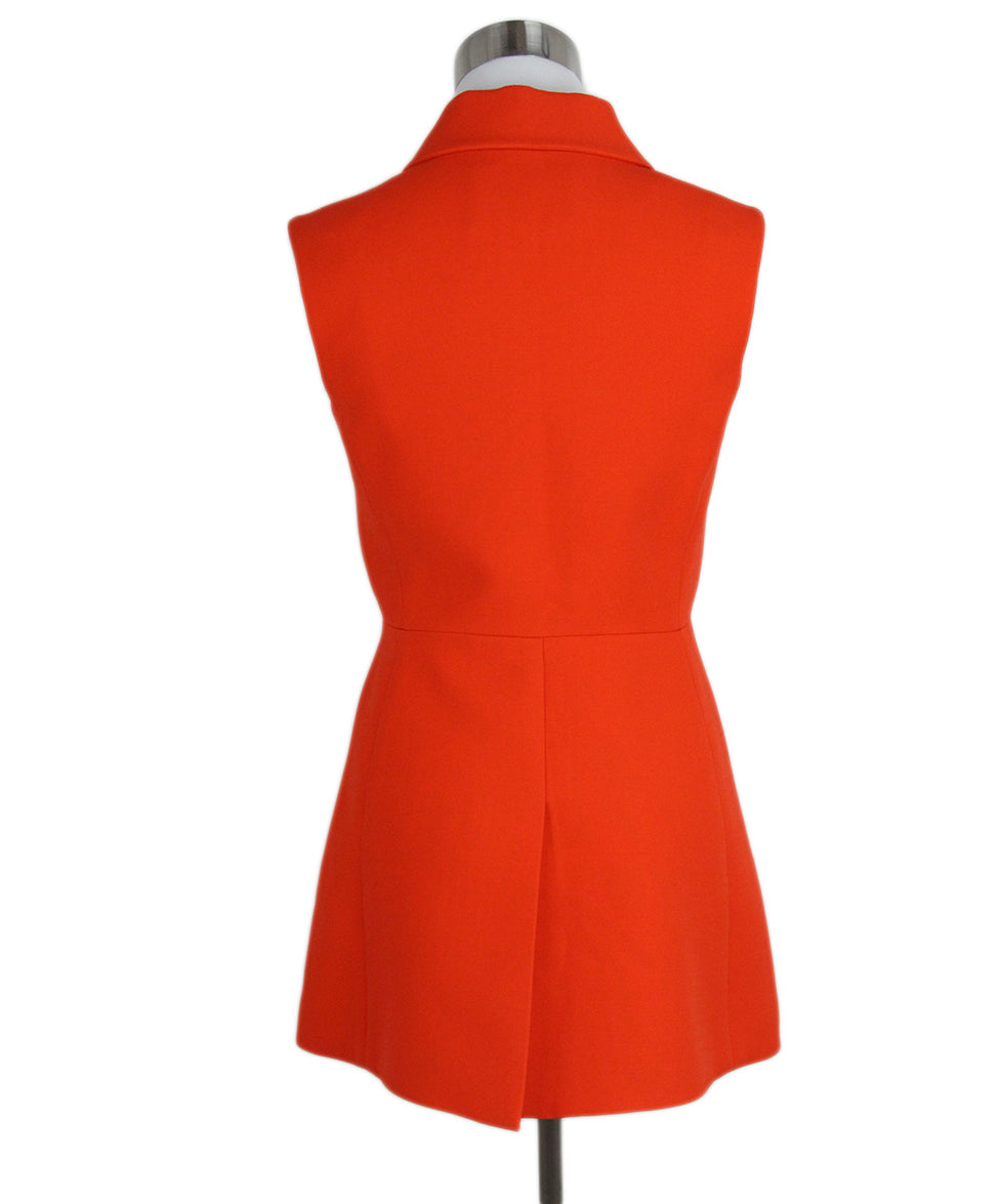 Prada Orange wool button up tunic vest 3