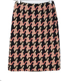 Prada Multi Color Chunky Houndstooth Knit Wool Skirt 2