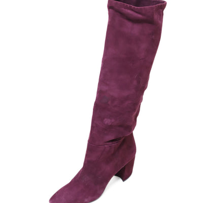 Prada Shoe Purple Plum Suede Boots