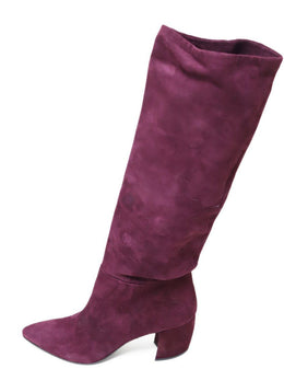 Prada Shoe Purple Plum Suede Boots 1