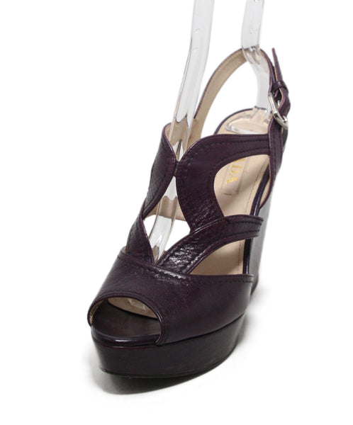 Prada Purple Leather Wedges 1
