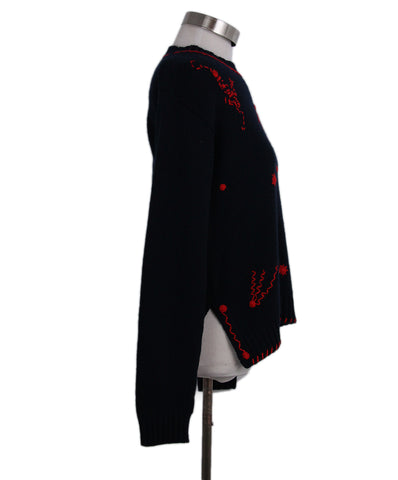 Prada Red embroidered cashmere sweater 1