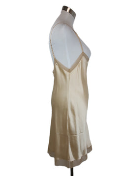 Prada Champagne Silk Slip Dress Size 4