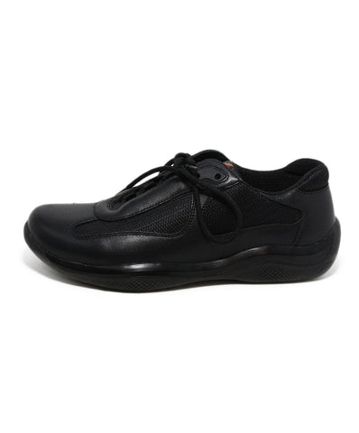 Prada Sport Black leather Nylon sneakers 1