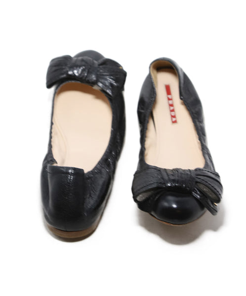 Prada Black Leather Flats 3