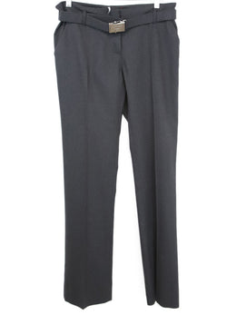 Prada Sport Grey Charcoal Wool  Pants with belt 1