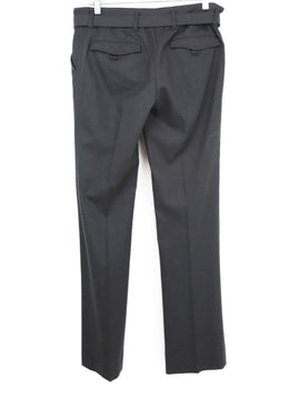 Prada Sport Grey Charcoal Wool  Pants with belt 2