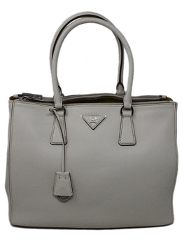 Prada White Leather Handbag 1
