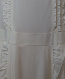 Prada Ivory Silk Ruffle Trim Dress 5