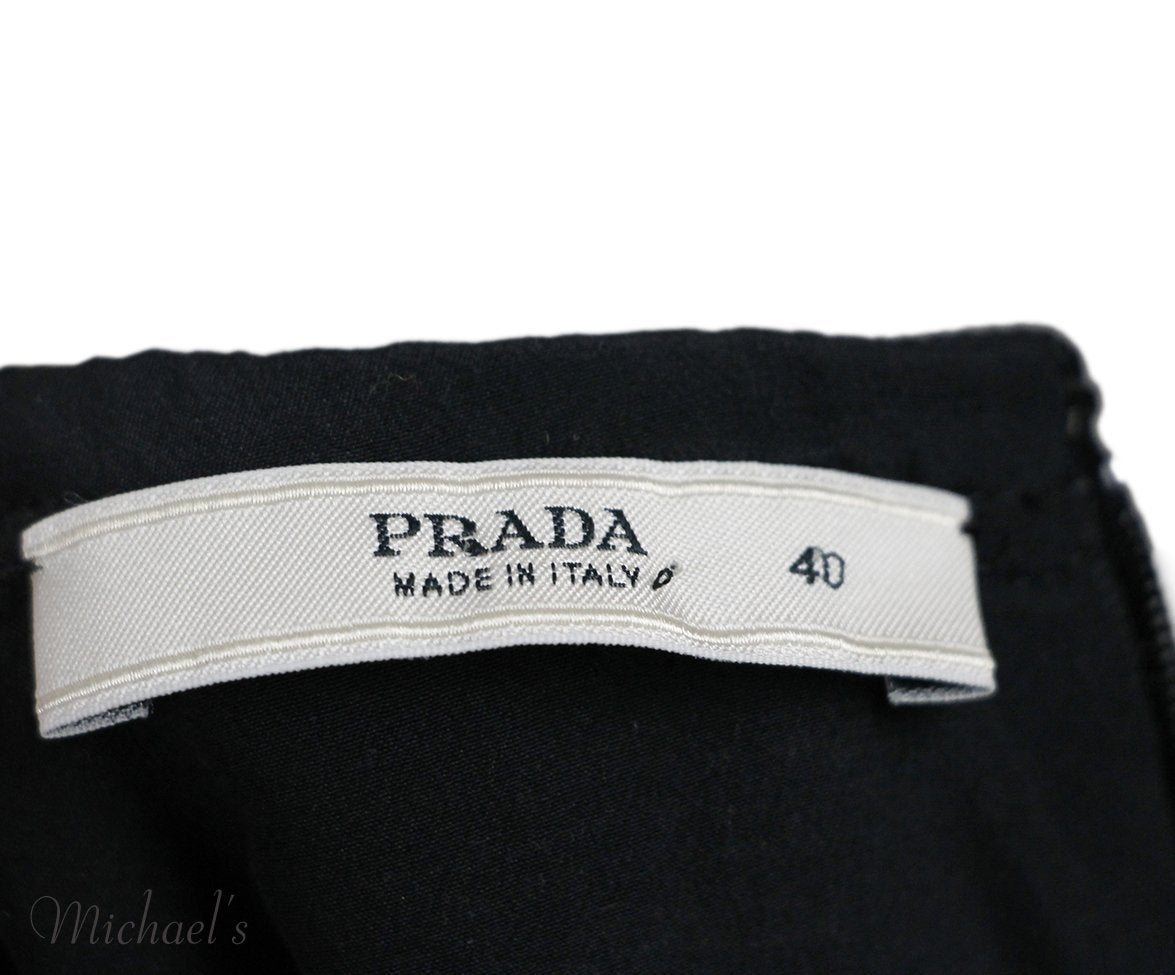 Prada Yellow Grey Green Wool Dress Sz 40