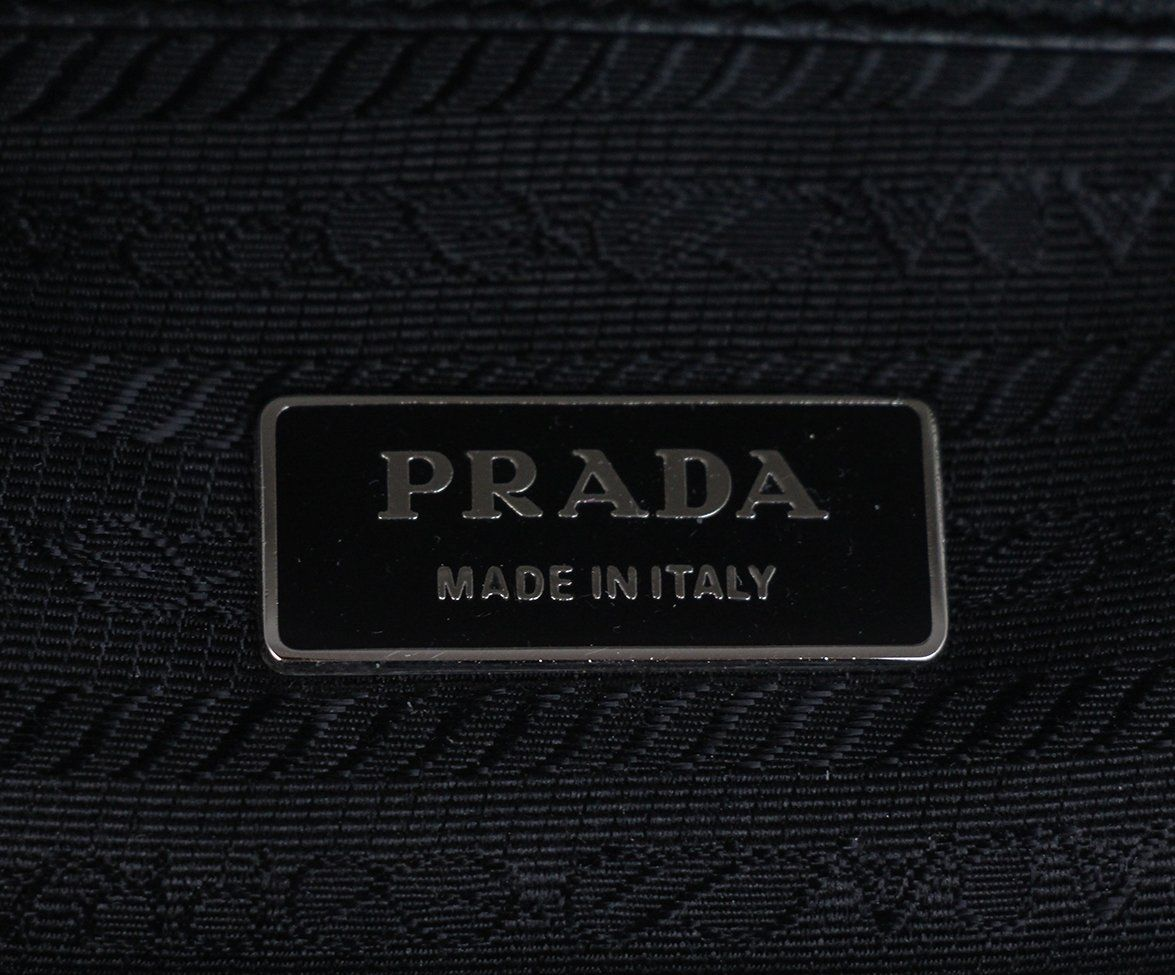 Prada black Leather bag 7