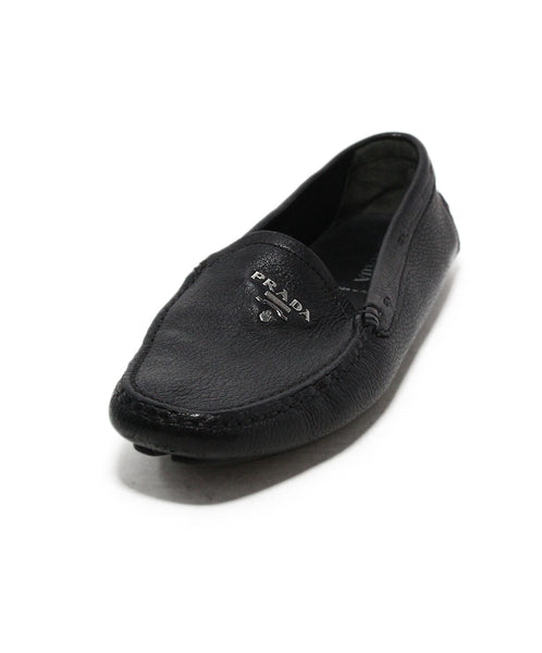 Prada black Leather loafers 1