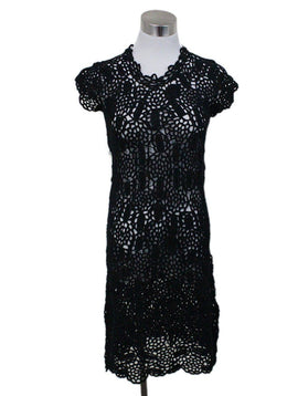 Prada Black Crochet Dress