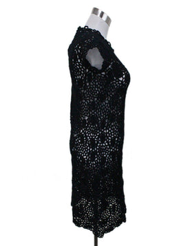 Prada Black Crochet Dress 1