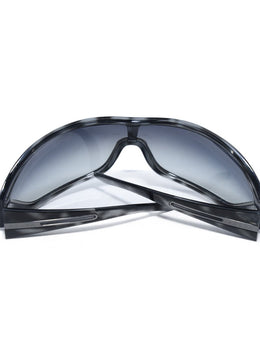 Prada Black Grey Frame Mask Sunglasses 2