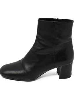 Prada Black Leather Booties 2