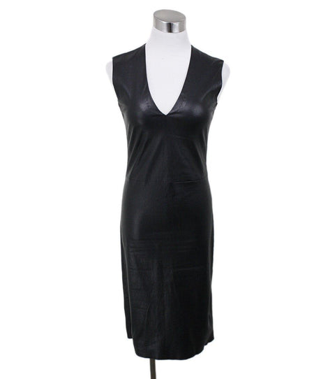 Chanel Black Dress with Lace Panels Size 8