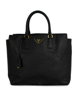 Prada Black Leather Handbag 1