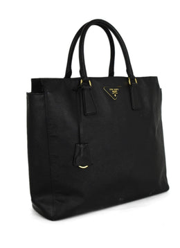 Prada Black Leather Handbag 2