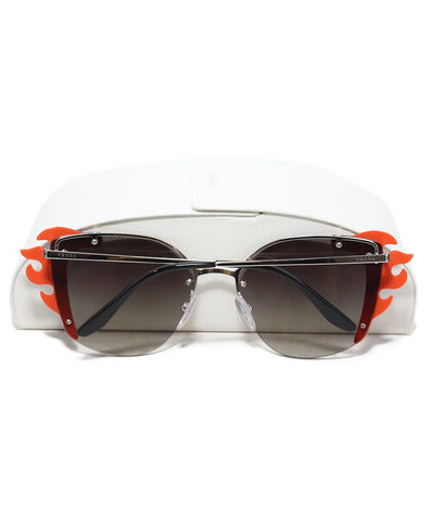 Prada black orange flame sunglasses 1