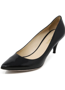 Prada Black Patent Leather Heels 1