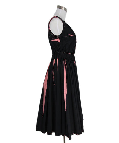 Prada Black Pink Cotton Dress 1