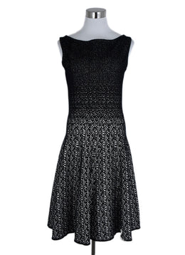 Prada Black White Viscose Nylon Dress 1