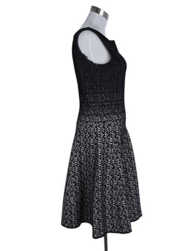 Prada Black White Viscose Nylon Dress 2
