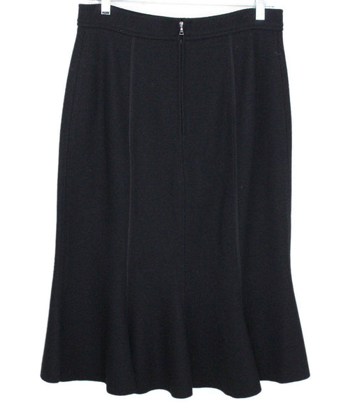 Prada Black Wool Skirt 1