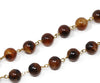 Prada Brown Lucite Beaded with Gold Chain Necklace 3