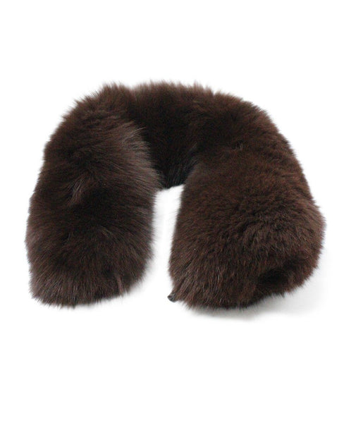 Prada Brown Mink Fur Collar