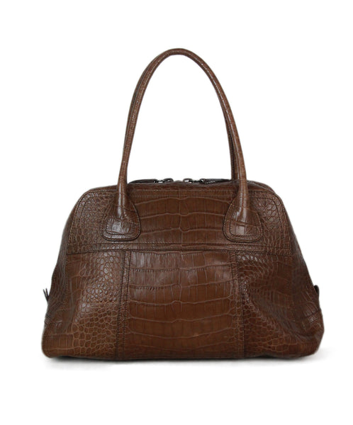 Prada brown pressed leather bag 1