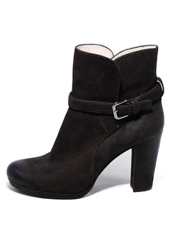 Prada Brown Suede Booties 2