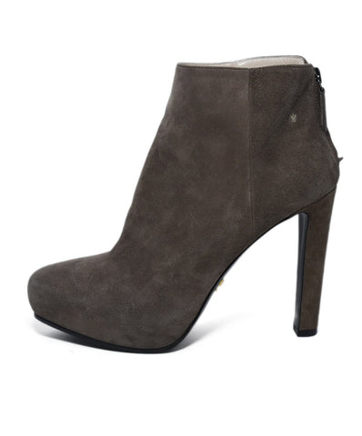 Prada Neutral Taupe Suede Booties Sz. 35.5