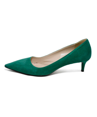 Prada Green Suede Leather Heels 1