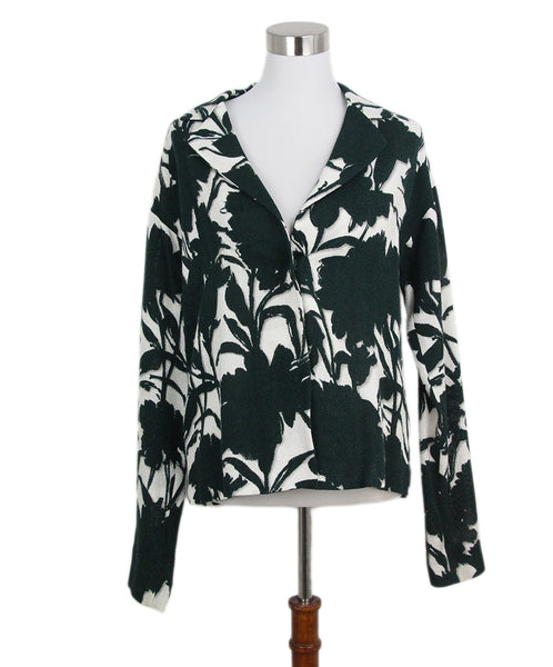 Prada green white print jacket 1