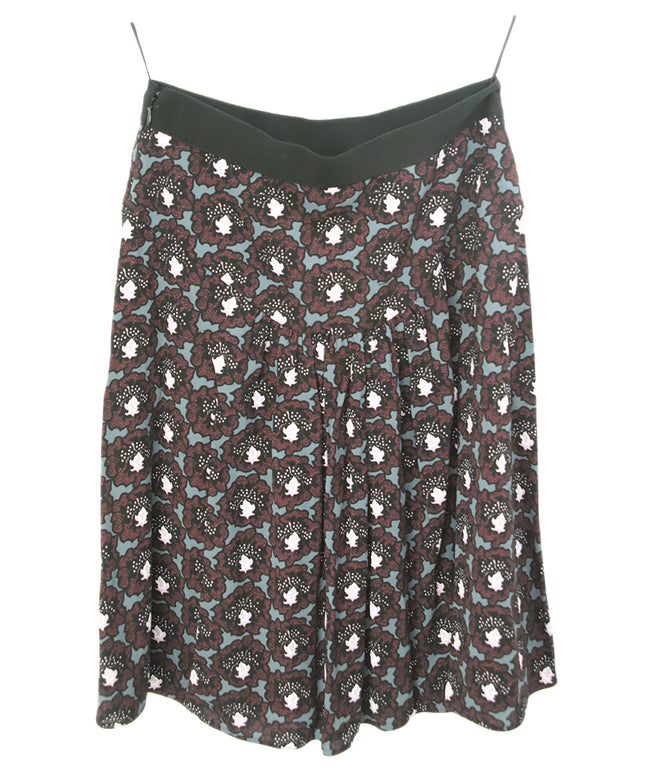 Prada Black Multi Print Skirt 2
