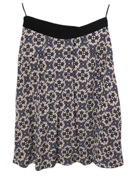 Prada Multi Purple White Print Skirt 2