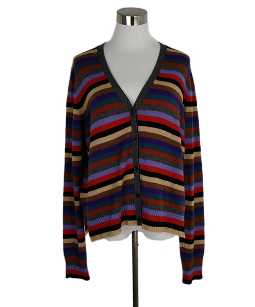 Prada Multi Stripes Cashmere Sweater Cardigan 1