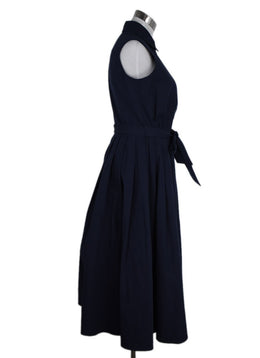 Prada Navy Cotton Sleeveless Dress 2